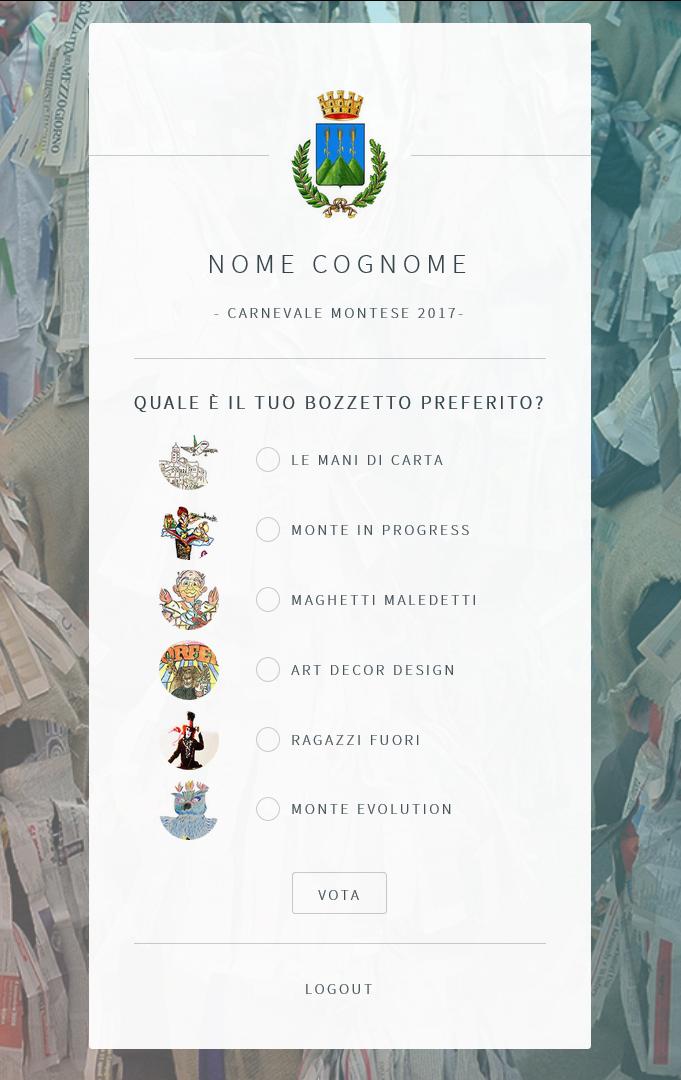 Votazioni online bozzetti Carnevale Montese 2017